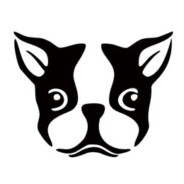 China Car Styling Creative Terrier Dog Face Boston Interesting Car Stickers Jdm Accessories Vinyl Decal Car Window cheap jdm car stickers decals suppliers