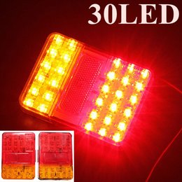 Tail Light Parts NZ - Brand New Auto Parts A Pair 12V 30 LEDs Taillight Truck Lamp Rear Tail Trailer Lights E-Marked Warning Lights