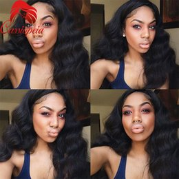 $enCountryForm.capitalKeyWord Canada - Water Wave Lace Front Wig For Black Women Glueless Peruvian Virgin Human Hair Full Lace Wig 8A Grade Free Style Long Hair