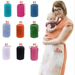 Barato Estilingue Para Crianças-Newborn Breastfeed Gear Sling Baby Stretchy Wrap Carrier Carrinhos infantis Gallus Kids Breastfeeding Sling Hipseat Mochilas OOA2635