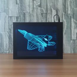 $enCountryForm.capitalKeyWord Australia - 3D AircraftLED Photo Frame Decoration Lamp IR Remote 7 RGB Lights DC 5V Factory Wholesale Drop Shipping