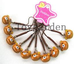 Wholesale sell New cartoon Japanese anime bell Mobile phone chain pendant kids toy