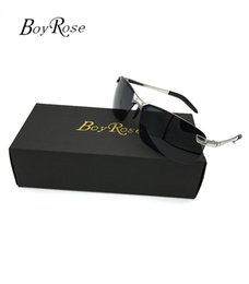 Ingrosso Marca BoyRose 68MM Lenti nere Occhiali da sole di lusso Moda Raggi di prova Occhiali da sole Occhiali da vista Occhiali da vista Per uomo Donna Porta Bans 3043