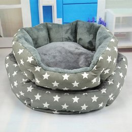 Discount pet house beds - Pet Kennels Gray Pet Dog Bed Warmer Dog Cat Pad Cushion Soft Sleeping Mat Kitten Comfortable Cushion Houses Pet Products