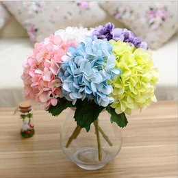 $enCountryForm.capitalKeyWord Canada - Artificial Hydrangea Flower Head 46cm Fake Silk Single Real Touch Hydrangeas 8 Colors for Wedding Centerpieces Home Party Decorative Flowers