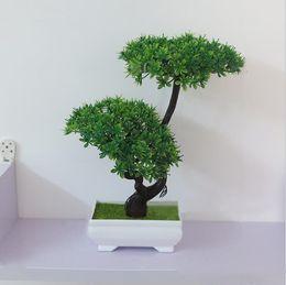 artificial flower miniascap tree mini office bonsai desktop green plant home wedding flower decor simulation flowers supplies wholesale