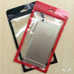 Discount cell phone hanging pouch - 12*22cm Zip lock bags Zipper Retail Package Bag Cell Phone Iphone Case Plastic Clear Packing Bags Zipper Zip Lock Hang H