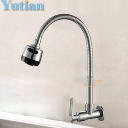 Wholesale Hot sell Brass Cold Kitchen Faucet single Cold Sink Tap torneira Cold Kitchen Tap YT A