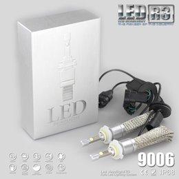 Wholesale R3 80W 9600LM Car H7 LED Headlight H1 H3 H4 H7 H8 H11 9005 9006 xenon white 6000K XHP-50 Car LED Headlight Bulb