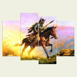 $enCountryForm.capitalKeyWord UK - (No frame) The natives four series HD Canvas print 4 pcs Wall Art Oil Painting Textured Abstract Pictures Decor Living Room Decoration