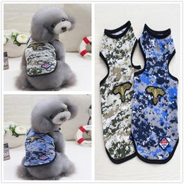 Cute Camouflage Clothing Canada - Y13 New Summer Pet dog Vest clothes Cute Camouflage Shirts Vest for Small dog Cats Clothing Apparel for Yorkshire Hiromi Drop shipping