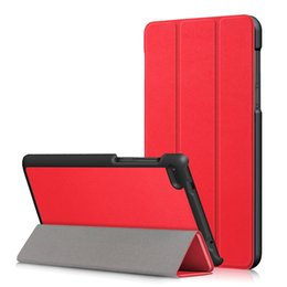 tablets lenovo NZ - Ultra Slim PU Leather Case Stand Cover for Lenovo Tab 4 7 Essential TB-7304 TB-7304F TB-7304I TB-7304X Tablet 30pcs