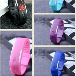 $enCountryForm.capitalKeyWord Canada - Fashion rectangle Bracelet boys girls Touch LED Watch Sport digital men women unisex jelly candy rubber silicone wrist Watch wristwatch