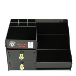 Botellas De Acrílico Transparente Baratos-Demonio Killer Storage Box Vape Display Showcase Soporte Soporte de estante Acrílico Material Negro Colores claros M Tamaño para bobina RDTA Botellas Mods DHL