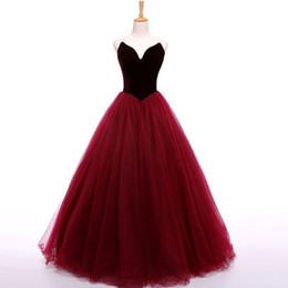 Chinese  Hot Sell High Quality Strapless Burgundy Organza Sweep Train Prom Dresses Evening Gowns for Women In Stock manufacturers