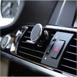 Gps Degrees NZ - Universal Magnetic Car Phone Holder Stand 360 Degree Car Dashboard Air Vent Mount Holder Support GPS Mobile Magnet Holder