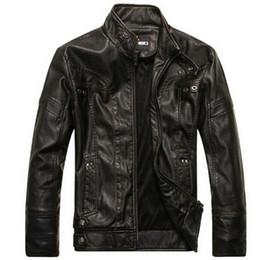 Mens Leather Parkas Canada - Men's Jacket Spring Autumn motorcycle leather jackets men leather jacket jaqueta de couro masculina,mens leather jackets Parka