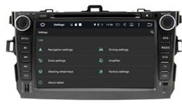 Toyota Corolla Dvd Wifi Canada - 8-Core 8 inch Android 6.0 Car Dvd Gps Navi Audio for Toyota Corolla 2006-2011 HD1024*600 1080P 2GB 32GB nand Wifi STEERING WHEE