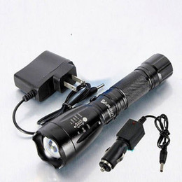 ultrafire charger led UK - 2200LM CREE XM-L T6 US EU Plug LED Rechargeable Flashlight Torch Lamp Charger F00052 SPDH