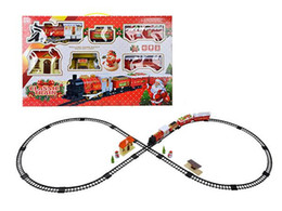 plastic train track set 2019 - Christmas Electric Train Track Sets Baby Educational Toy Splicing Rail Train Toddler Gift Kids Toys Scale Models Xmas De