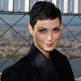 Discount real cut human hair - 2017 New Arrival Full Lace Front Side Bang Short Straight Human Real Hair Wig Virgin Remy Human Cut Hair Capless Wig