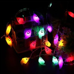 Ghost Shape Fairy String Lights 20LED per Halloween Indoor Party Cosplay Impermeabile Cute Ghost LED Lights OOA3150