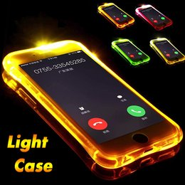 Iphone Calling NZ - Call Lightning Flash LED Light Up Case Soft TPU Silicone Cover For iPhone XS Max XR X 8 7 6 Plus 5 Samsung Galaxy S10 E S9 S8 Note 9 8 A9 A8