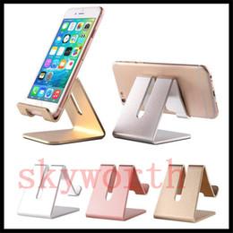 Universal cell phone desk holder online shopping - Cell Phone Stand Universal Aluminum Metal Phone Holder For iPhone Plus Samsung S8 Tablet Desk Phone Holder Stand