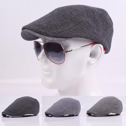 9a63177d 2018 New Autumn Winter Beret Caps Mens Hats Cotton British Retro Flat Cap  Boina For Cowboy