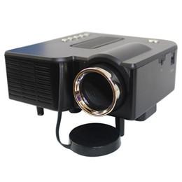 Venda por atacado - Multimedia Projetor LED HD UC28 Home Theater Mini Suporte Projetor Portátil 1080p HDMI AV-in Vídeo VGA HDMI USB SD venda por atacado