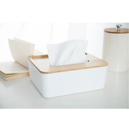 $enCountryForm.capitalKeyWord Canada - Wholesale- NAIYUE Paper Rack Elegant Royal Home Wooden cover Tissue Box Rectangular Container Towel Napkin Tissue holder