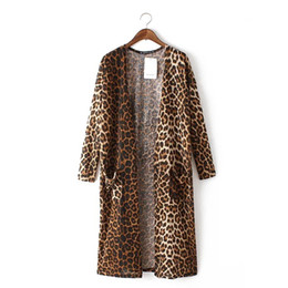 Long Leopard Chiffon Cardigan NZ | Buy New Long Leopard Chiffon ...