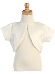$enCountryForm.capitalKeyWord UK - Wholesale Short Sleeve Satin Flower Girl Bolero Wholesale Price Good Quality European Design Simple Beautiful Look
