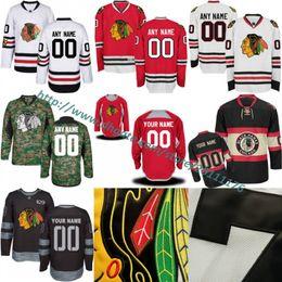 4b952b7bc Mens Chicago Blackhawks Custom Ice Hockey Jerseys Red White 2017 Winter  Classic