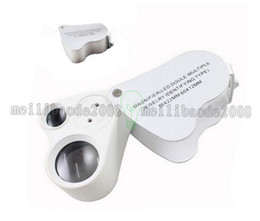 Loupe Wholesalers Australia - High Quality 95*40mm Glass Magnifying Magnifier Jeweler Jewelry Loupe 30X 60X with 2 LED Light MYY
