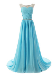 Discount embellish evening dress - Scoop Neckline Ruched Bodice Beaded Straps Evening Dress with Sparkling Embellished Waist Bridesmaid Dresses Homecoming