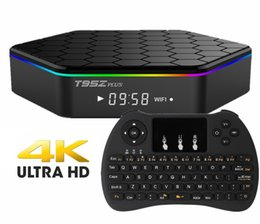 Android Tv Box Hdmi Keyboard Canada - S912 Android TV Boxes T95z plus 2gb 16gb 4k ott tv box with remote keyboard 2.4G Wireless H9 Air Fly Mouse