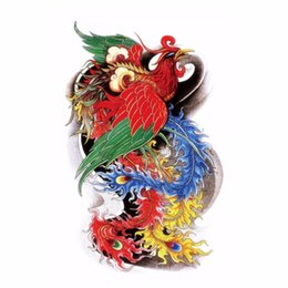 Chinese  Wholesale- Traditional Oriental Phoenix Beauty Sexy Makeup Body Art 3D Waterproof Temporary Tattoo Stickers manufacturers
