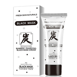bamboo oils Australia - Skin Care 80g Bamboo Charcoal Black Mask Cream Deep Cleansing Face Natural Oil Control Pore Cleaner Remover Blackhead Face Masks