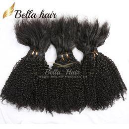 Hair weave tHreads online shopping - New Brazilian Hair Bundles Virgin Human Hair Braid in Bundles No Glue No Thread No Clips Machine Weft Braid in Virgin Hair Julienchina