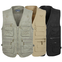 China PLUS SIZE XL-4XL 5XL tactical Vest Men New Arrival Multi-pockets Photography Cameraman Vest Gear Outdoor Hunting Jacket cheap new tactical gear suppliers