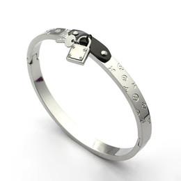 замок манжеты браслет золотой цвет нержавеющей стали браслеты браслеты для женщин браслет Pulseiras ювелирные изделия браслеты