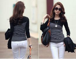 poleras de mujer moda vintage tshirt brand t shirt women fashion tee shirt femme long sleeve tshirt striped woman clothing