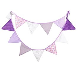 online shopping Purple children birthday cloth flag Photo background article Children s clothing store decoration