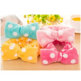 sponge hair band NZ - Wholesale-Flannelette Elastic Headband For Bath Shower Face Washing Make Up Hairband Girls Hair Band Exercise Sport Yoga Women Hair Bands
