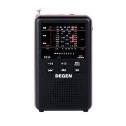 $enCountryForm.capitalKeyWord Canada - Wholesale-2016 Newest Degen de36 FM Radio Stereo FM1-2 MW SW1-8 Full-band World Receiver MP3 Player portable digital radio free shipping