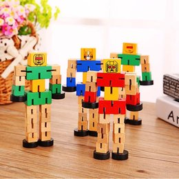Tangled Toys Canada - Wood Tangles with a rubber Transfomers Robot wooden Toys Educational kids toys Children's Gifts Boy's best love