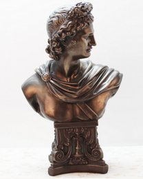 Ornaments Figure Home Canada - Creative home decorative resin furnishing articles European bronze figure sculpture works of art Business gifts