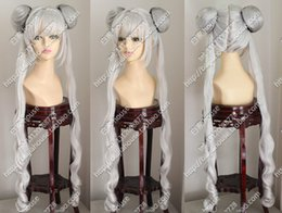 sailor moon wigs Canada - Sailor Moon March Hare COS Wig New Long Silver Gray Cosplay Anime Curly Wigs free shipping