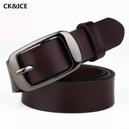 Designer Leather Canada - Wholesale- New 2017 Fashion Women Belt Brand Designer Leather Metal Belt Woman Pin Buckle Luxury Jeans Belts Female
